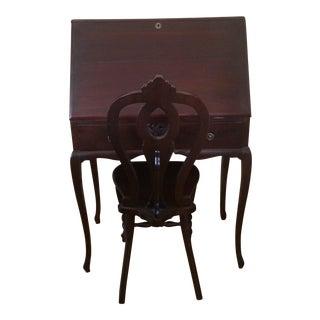 Antique Secretary Cherry Stained Desk