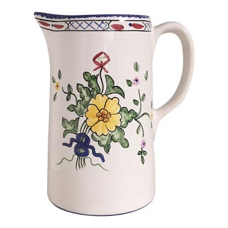 Vintage Tiffany & Co. Lisbon Hand Painted Pitcher
