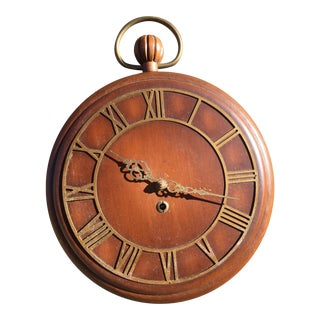 Mid-Century Pocket Watch Wall Clock