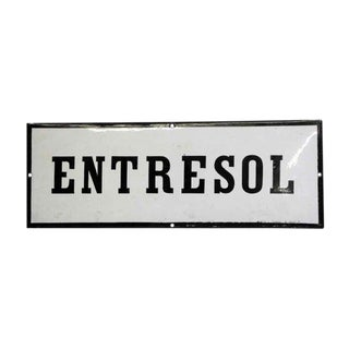 Vintage European Entresol Mezzanine Wall Sign