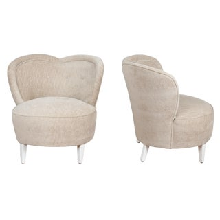 Vintage Heart-Shaped Chairs - A Pair