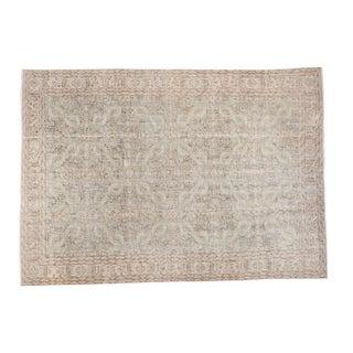 "Distressed Oushak Carpet - 6'10"" X 9'8"""