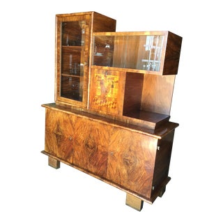 Walnut French Art Deco Bar