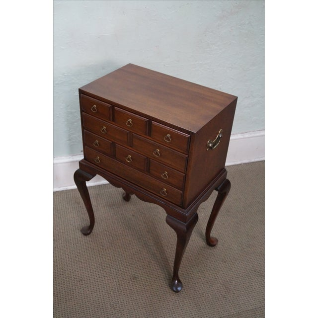 Hickory Chair Mahogany Queen Anne Silver Chest - Image 8 of 10