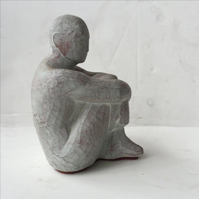Men Seated Terra Cotta Sculpture - Image 4 of 11