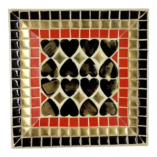 Art Deco Ceramic Tile Tray