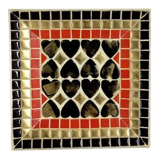 Art Deco Ceramic Tile Tray