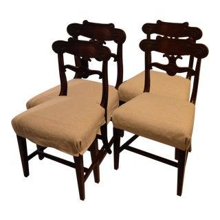 Circa 1825 William IV Mahogany Chairs - Set of 4