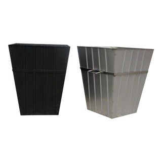 Large Stainless Steel Planters