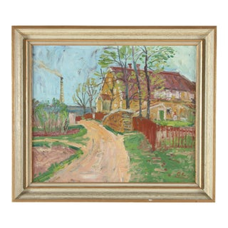 Gunnar Lindberg Impressionist Oil Painting