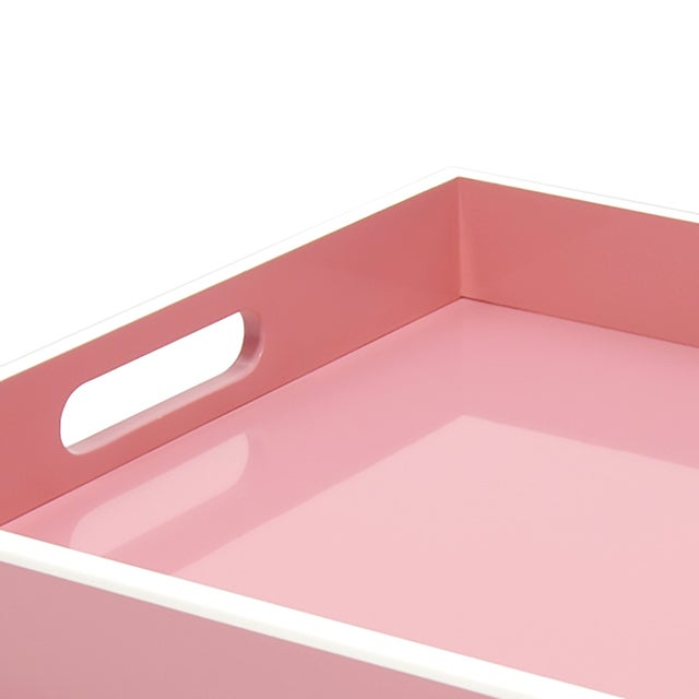 Pink Lacquer Serving Tray - Image 2 of 2