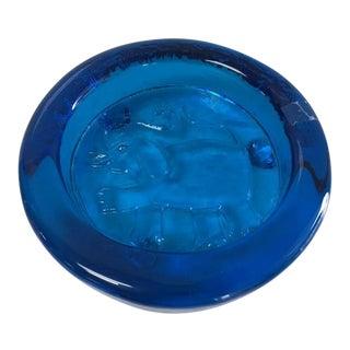 Blenko Cobalt Blue Dish