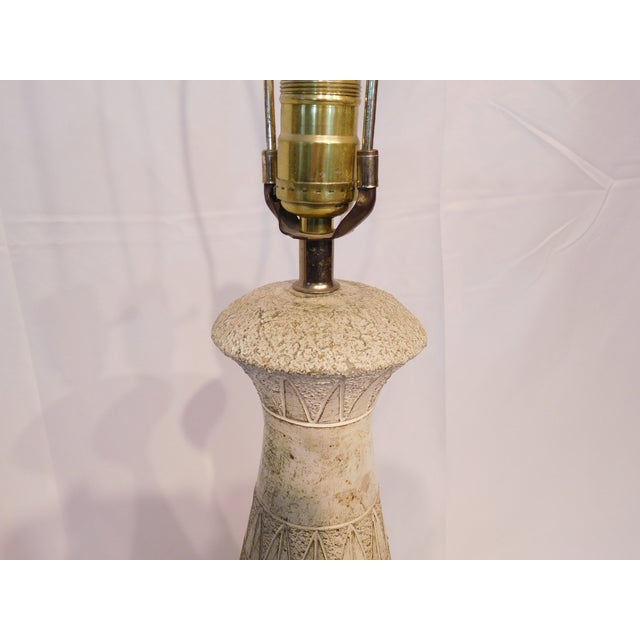 Vintage Abstract Patterned Ceramic Lamps - A Pair - Image 7 of 8
