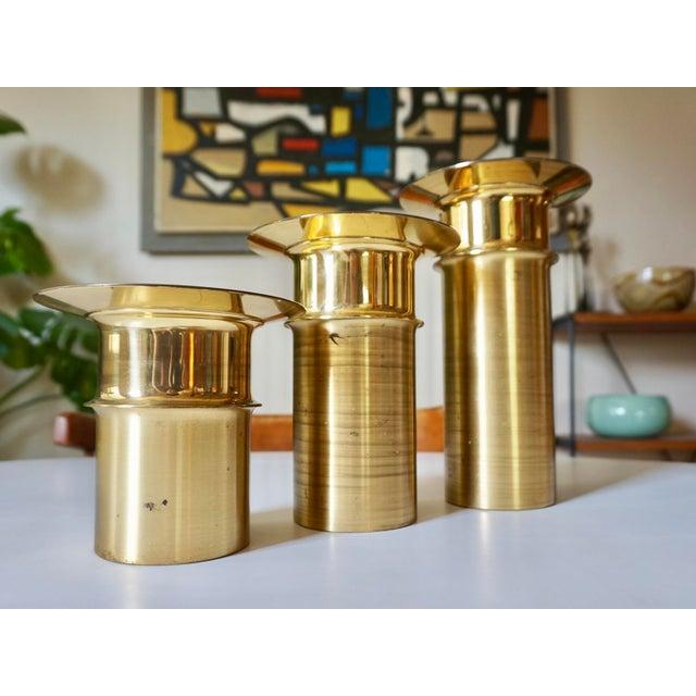 Tapio Wirkkala Bronze Candle Holders- Set of 3 - Image 4 of 5