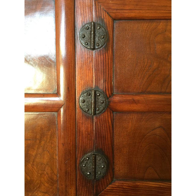 Antique 19th Century Korean   Chinese   Japanese Tansu Cabinet Iron Pulls and Hardware - Image 7 of 9