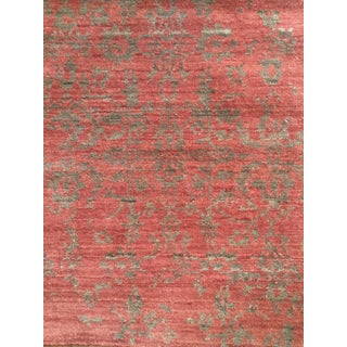 Hand Knotted Rug in Red & Rust Tones - 2' x 3'