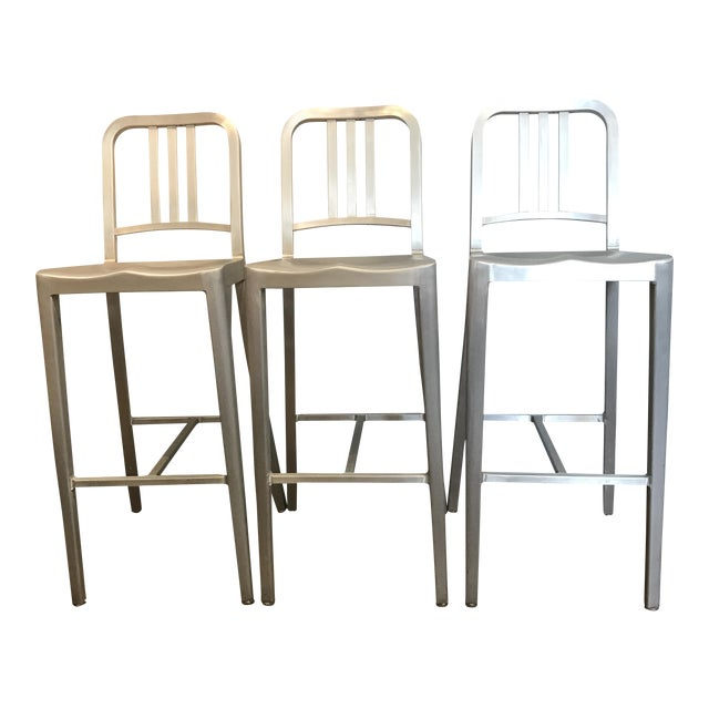 Emeco Aluminum Bar Stools- Set of 3 - Image 1 of 6