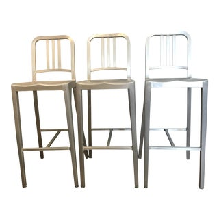 Emeco Aluminum Bar Stools- Set of 3