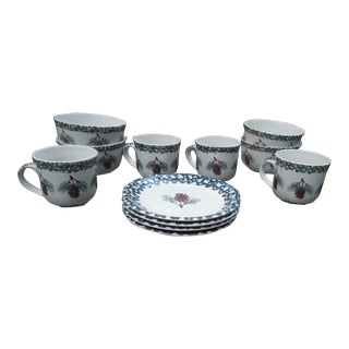 Tieneshan Folkcraft Pine Cone Design Dinnerware - 12 Pieces