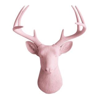 Wall Charmers Blossom Pink Faux Deer Head