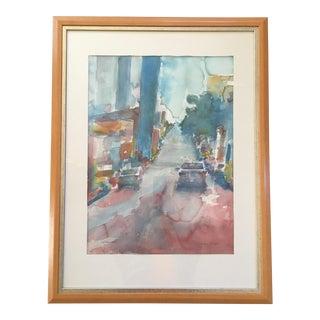 San Francisco Watercolor Street Scene