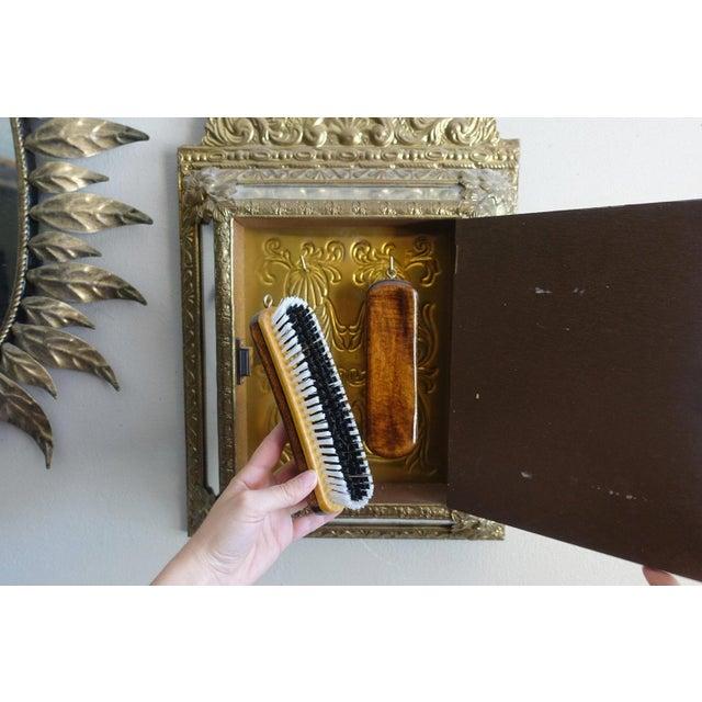 Vintage Brass Cabinet Mirror - Image 4 of 7