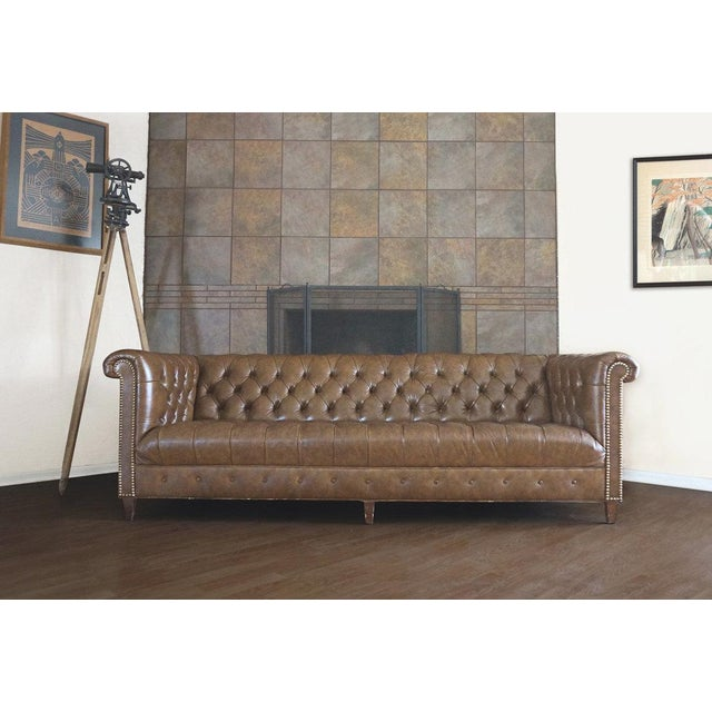 Schafer Bros Leather Chesterfield Tufted Sofa - Image 2 of 6