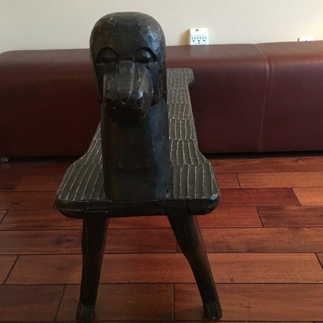 Black Dog Wooden Bench - Image 9 of 10