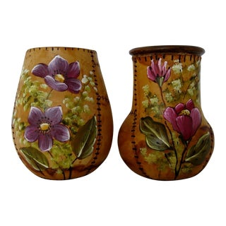 Brazilian Artisan Vases - A Pair
