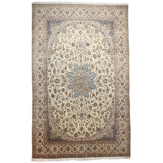 RugsinDallas Very Fine Hand Knotted Silk and Wool Persian Nain Rug - 13′4″ × 20′11″
