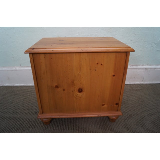 Image of Ethan Allen Rustic Light Pine Chest Side Table