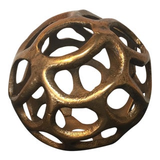 Round Gold Metal Orb