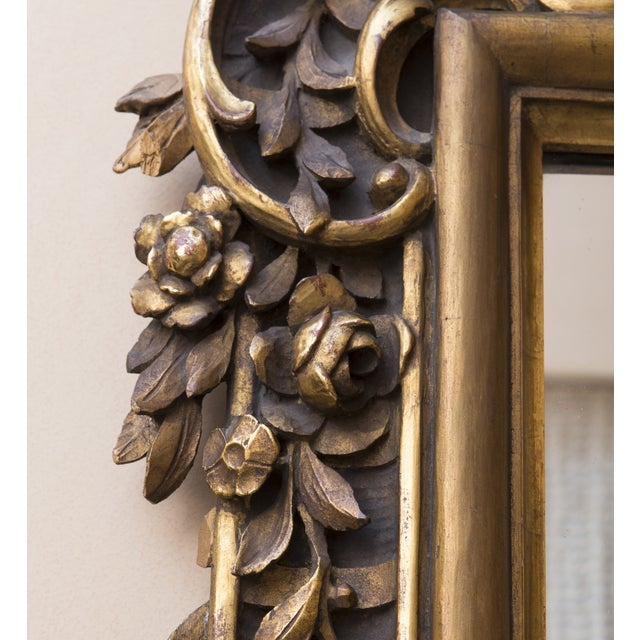 Carved Wood Mirror With Gilt Finish - Image 7 of 8