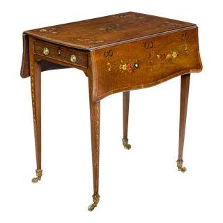 George III Satinwood Pembroke Table,