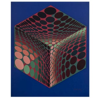 Pencil Signed Victor Vasarely Serigraph Titled Parmenide