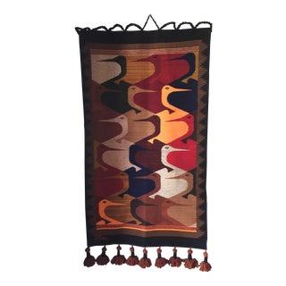 Modern Birds Handmade Tapestry