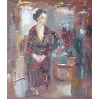 """Sitting Woman"" Original Oil Painting"