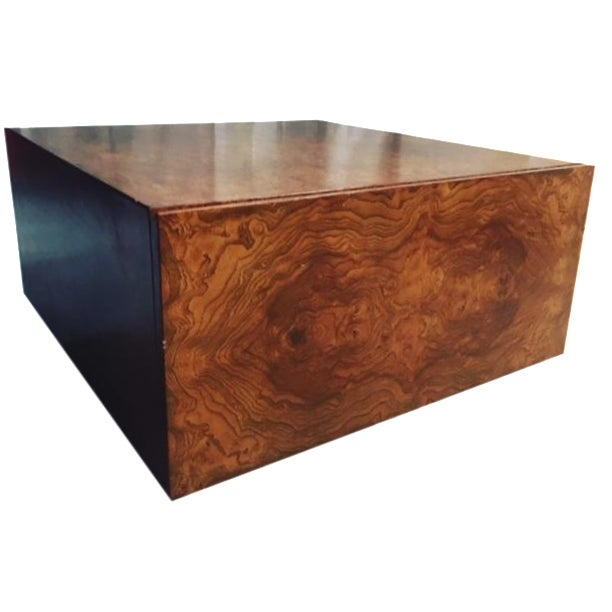 Milo Bauhgman Floating Burl Wood Coffee Table Chairish