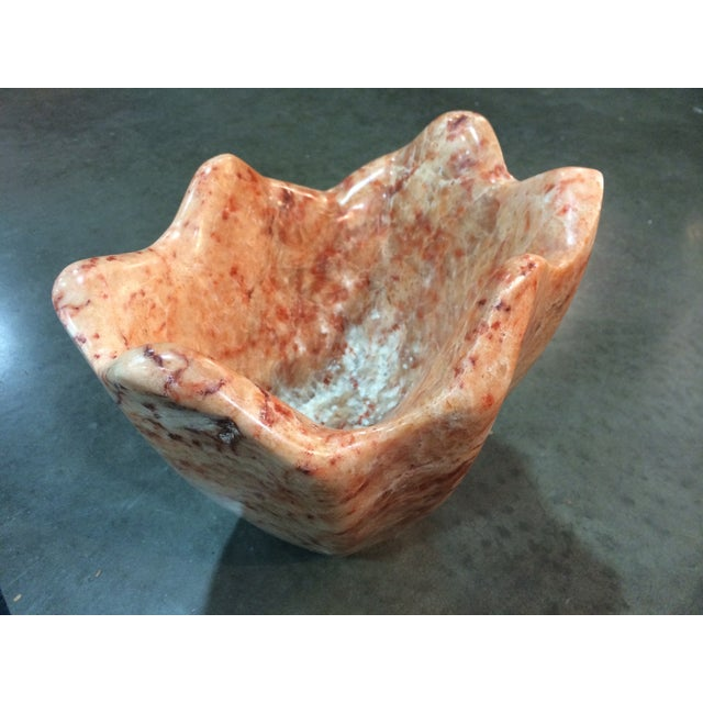 Italian Marble Head Cheese Natural Vase - Image 2 of 6