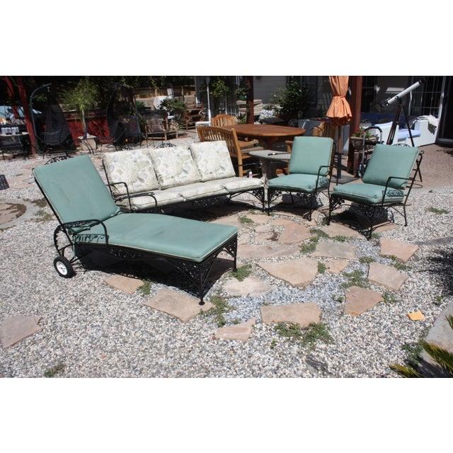 Vintage Woodard Outdoor Conversation Set - 4 - Image 3 of 11