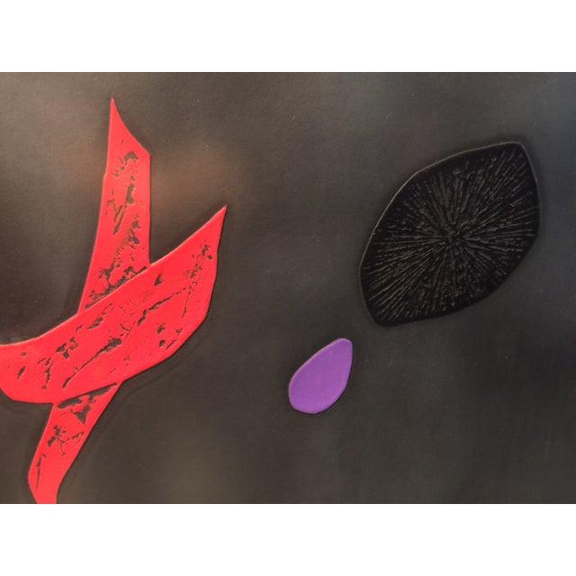 "Haku Maki's Embossed Woodblock Print ""Poem 70-72"" - Image 4 of 8"