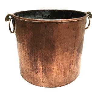 Antique Hammered Copper Pot