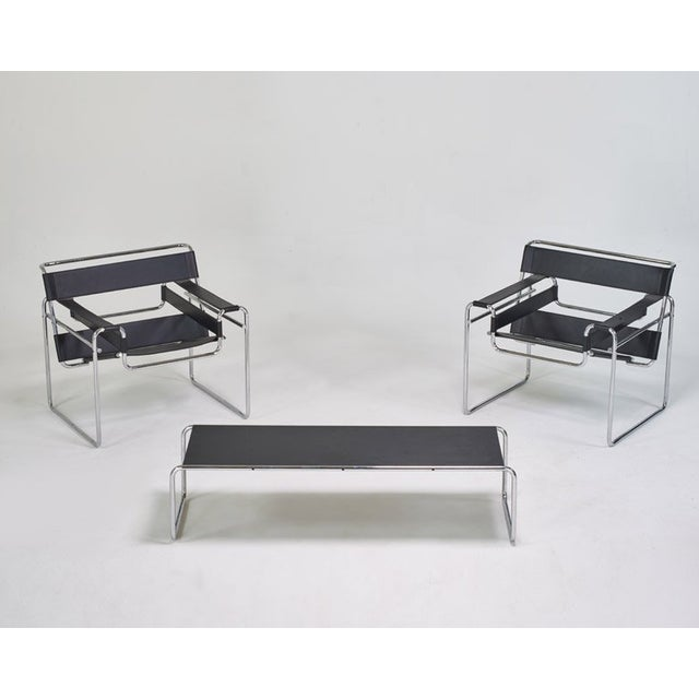 Image of Knoll Wassily Marcel Breuer Chairs - Pair