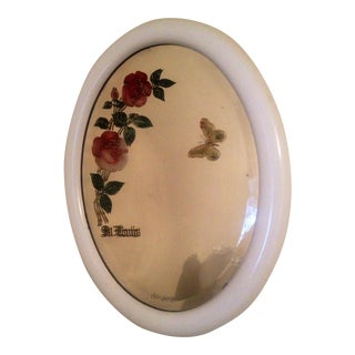 Vintage Etched Rose Mirror