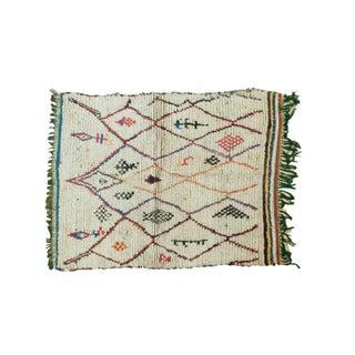 """Vintage Moroccan Square Rug - 3'10"""" X 5'"""