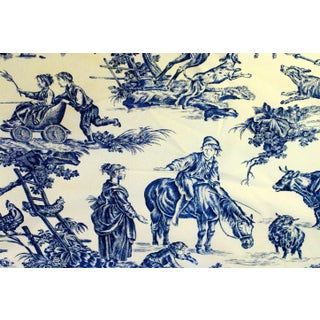 Prelle Toile French Country Linen Fabric - 6 Yards