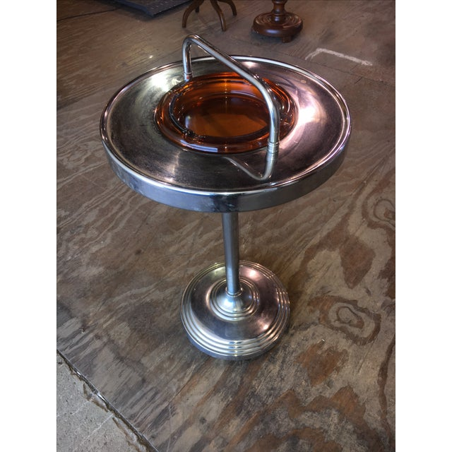 Machine Age Industrial Chrome Smoking Stand - Image 4 of 10