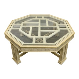 Vintage Fretwork Chinoiserie Coffee Table
