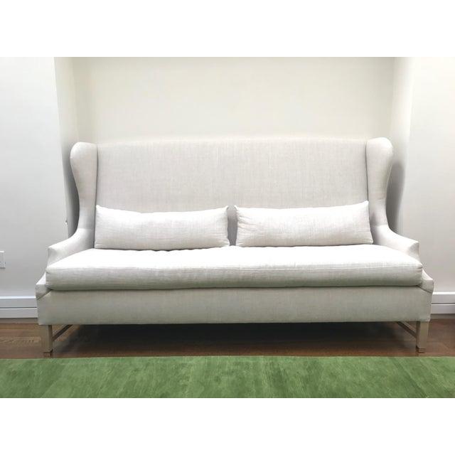 Verellen High Back Belgium Linen Sofa - Image 2 of 3