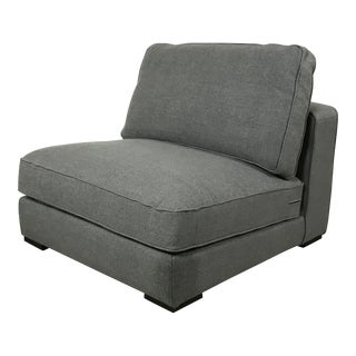 Gray Modern Armless Club Chair